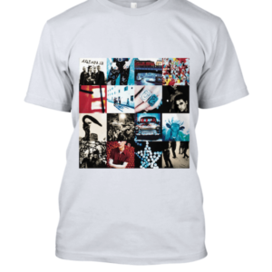 Achtung Baby U2 Band T Shirt Front